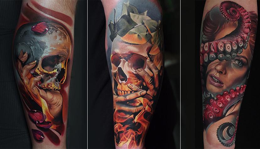 Styl Tatuaż Realistyczny Tatuażysta Levgen Knysh.
