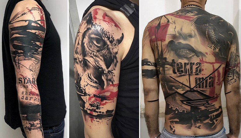 Styl Tatuaż Trash-Polka