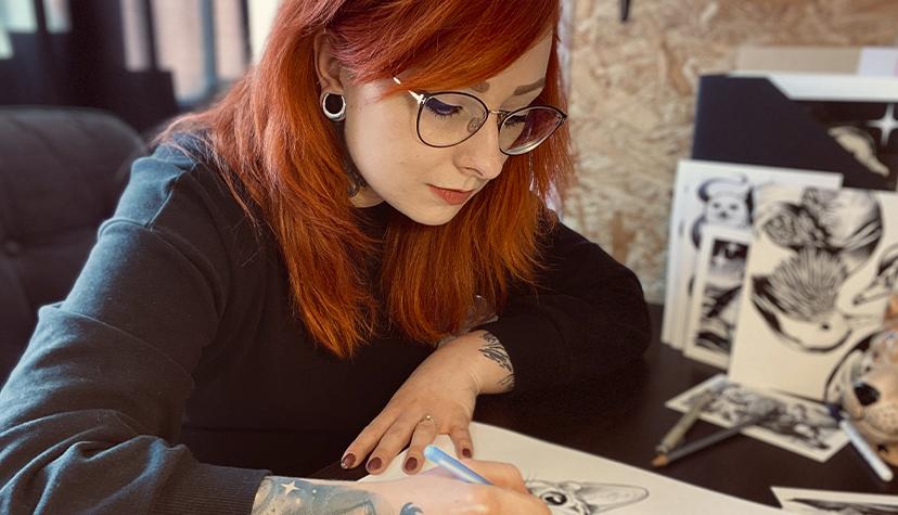 Tatuażysta Magdalena Hipner zmiasta Zielona Góra zestudio tatuażu Hipner Tattoo