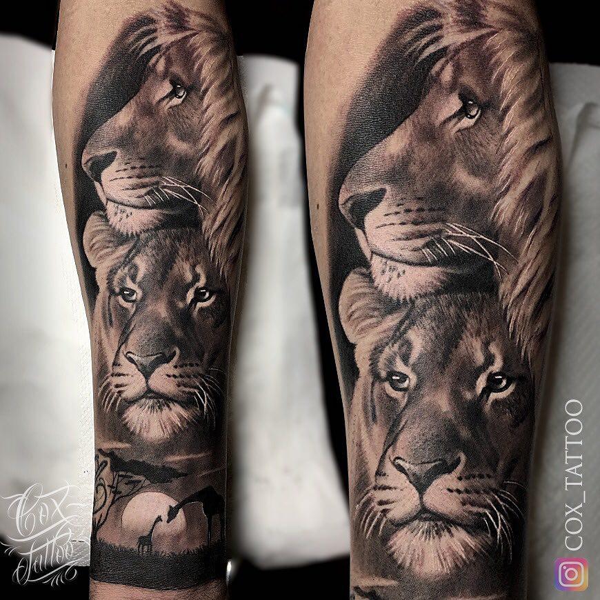 Tatuaż lwa ilwicy wafryce znaczenie dla mężczyzn ikobiet